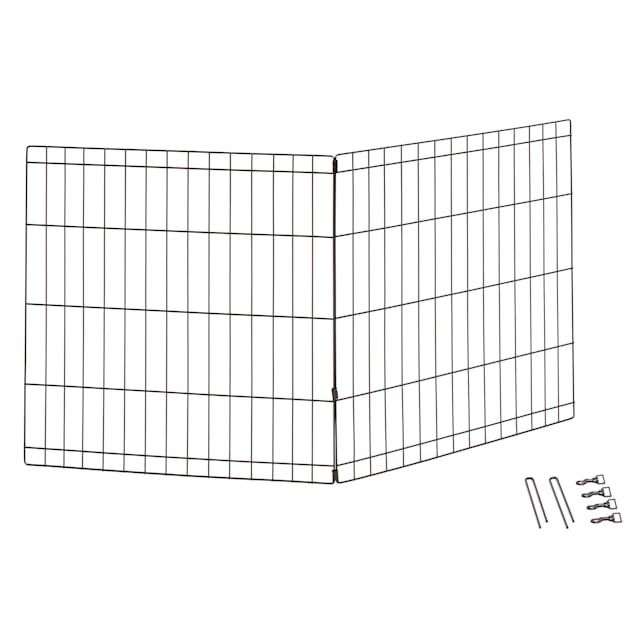 """Midwest Black Add-on Panels Exercise Pen for Dogs, 24"""" H - Carousel image #1"""