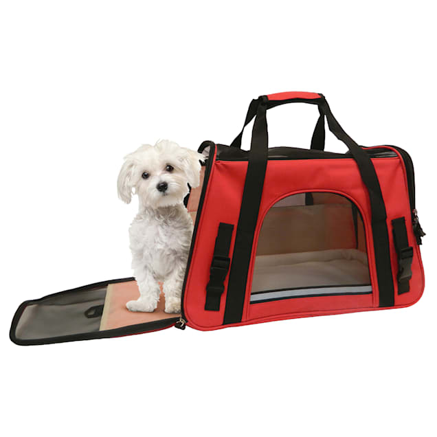 """Coleman Red Pet Carrier, 19"""" L X 9"""" W X 11.5"""" H - Carousel image #1"""