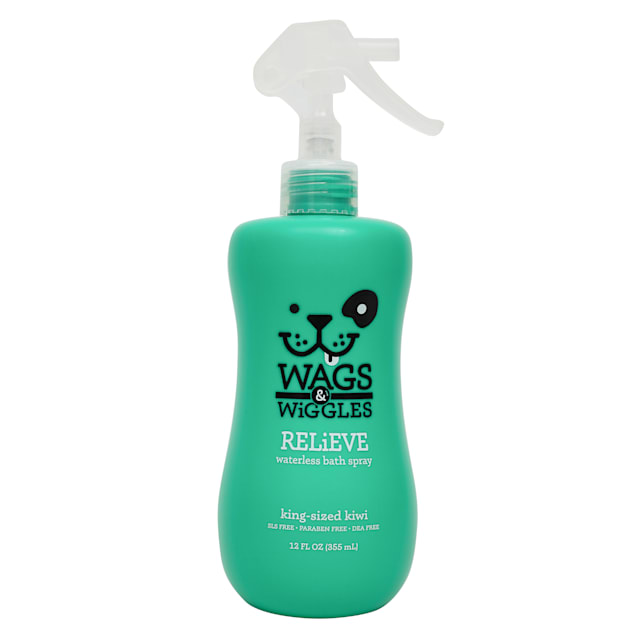 Wags & Wiggles Relieve Waterless Bath King Sized Kiwi Anti-Itch Dog Spray, 12 fl. oz. - Carousel image #1