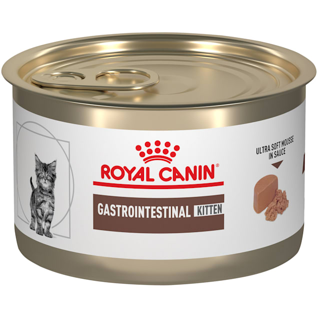 Royal Canin Veterinary Diet Feline Gastrointestinal Ultra Soft Mousse in Sauce Canned Wet Kitten Food, 5.1 oz., Case of 24 - Carousel image #1