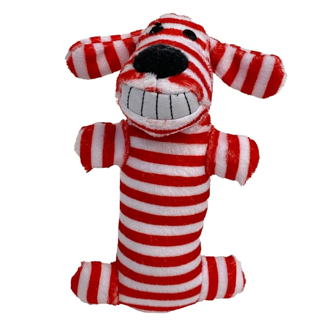 Multipet Stripes Holiday Loofa Dog Toy, X-Small - Carousel image #1