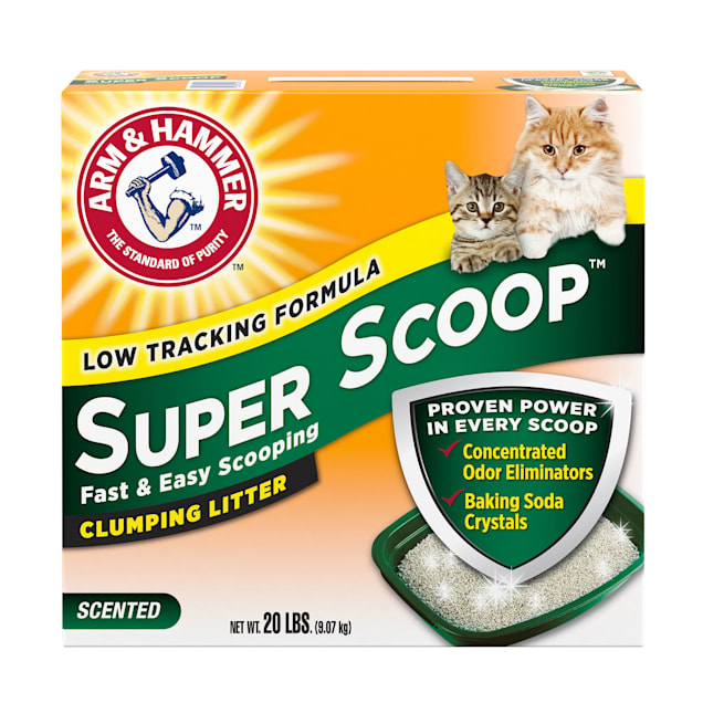 Arm & Hammer Super Scoop Clumping Litter for Cats, 20 lbs. - Carousel image #1