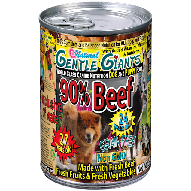 Gentle Giants 90% Beef World Class Wet Dog Food, 13 oz., Case of 12 - Carousel image #1