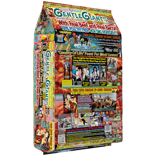 Gentle Giants Real Beef with Real Bacon World Class Dry Dog Food, 24 lbs. - Carousel image #1