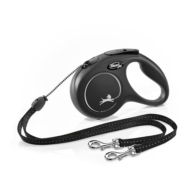 Flexi Black New Duo Classic Cord Retractable Dog Leash, 16 ft. - Carousel image #1