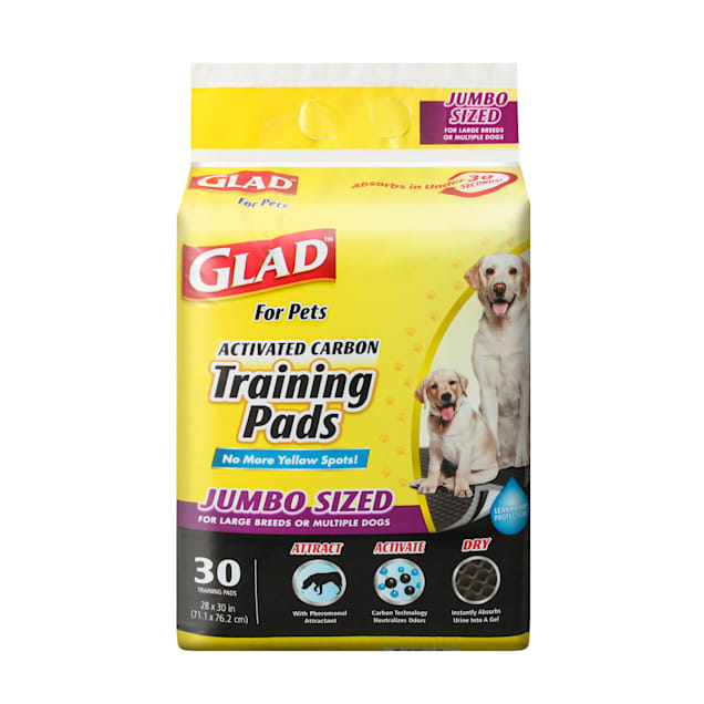 GLAD for Pets X-Large Activated Carbon Dog Training Pads, Count of 30 - Carousel image #1
