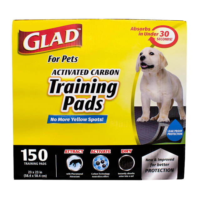 GLAD for Pets Large Activated Carbon Puppies & Senior Dog Training Pads, Count of 150 - Carousel image #1