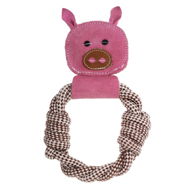 Country Tails DOOG Pink Peggy Pig Rope Tug Dog Toy, Medium - Carousel image #1