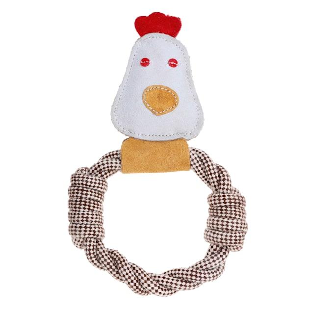 Country Tails DOOG Calico Chicken Rope Tug Dog Toy, Medium - Carousel image #1