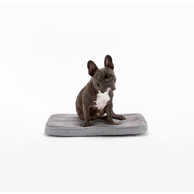 "Diggs Snooz CertiPUR-US Grey Memory Foam Dog Crate Pad Bed, 24.8"" L X 16"" W X 2"" H - Carousel image #1"