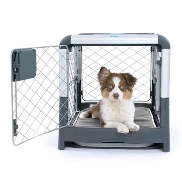 "Diggs Revol Double-Door Collapsible Dog Crate with Tray and Divider, 27"" L X 20"" W X 20.8"" H - Carousel image #1"