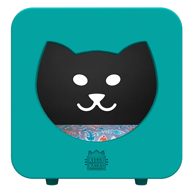 """Kitty Kasas Teal Bedroom Snap On for Cats, 15.5"""" L X 12"""" W X 16.75"""" H - Carousel image #1"""