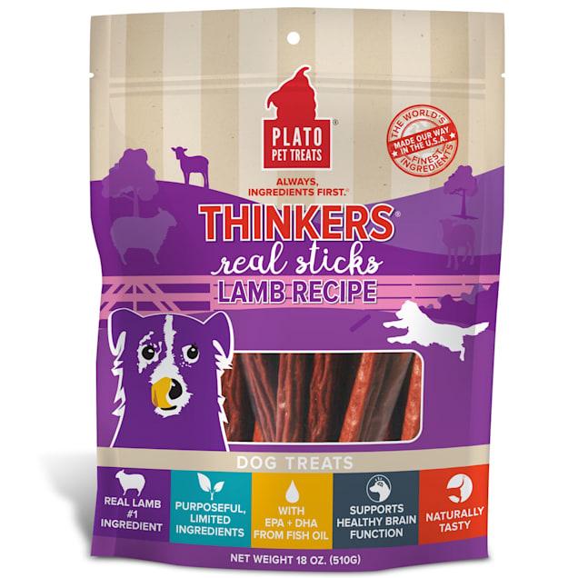 Plato Pet Thinkers Lamb Chew Dog Treats, 18 oz. - Carousel image #1