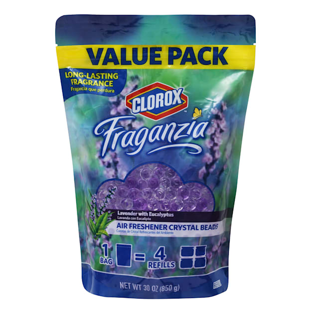 Clorox Fragranzia Air Freshener Crystal Beads in Lavender with Eucalyptus Scent, 30 fl. oz. - Carousel image #1