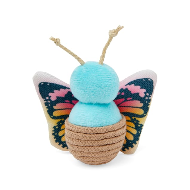 Bond & Co. Started As A Bottle Recycled & Reinvented Pretty Dragonfly Rattle Cat Toy, Small - Carousel image #1