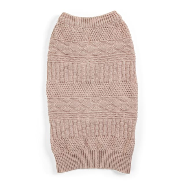 YOULY The Beatnik Coral Crewneck Dog Sweater, X-Large - Carousel image #1