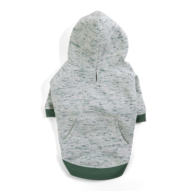YOULY The Champion Green Space-Dye Dog Hoodie, X-Small - Carousel image #1