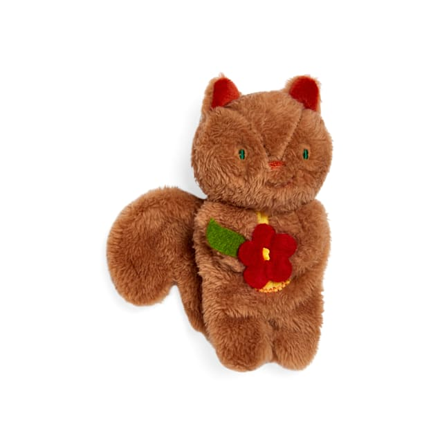 Bond & Co. Started As A Bottle Recycled & Reinvented Flying Squirrel Flattie Plush Dog Toy, Small - Carousel image #1