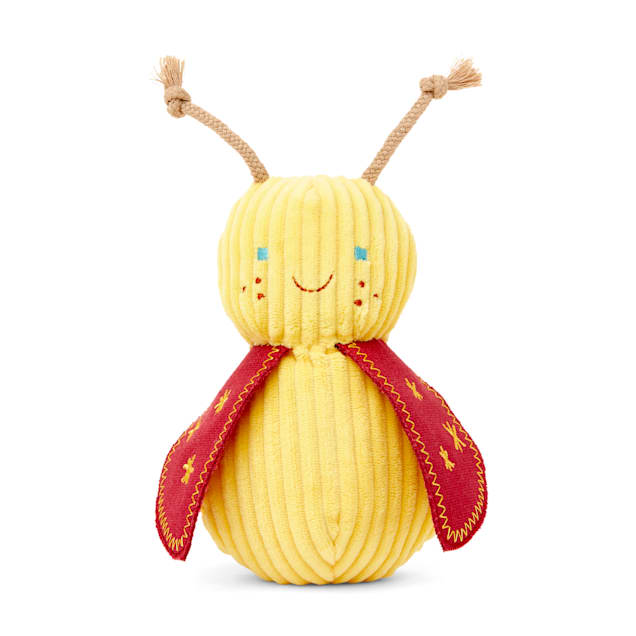 Bond & Co. Started As A Bottle Recycled & Reinvented Queen Bee Plush Dog Toy, Small - Carousel image #1