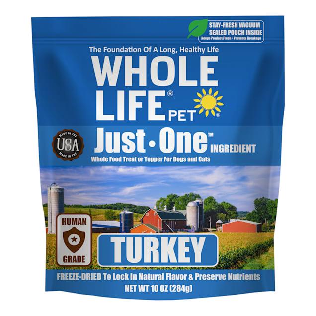 Whole Life Pet Just One Freeze Dried Pure Turkey Breast Whole Food Dog & Cat Treats, 10 oz. - Carousel image #1