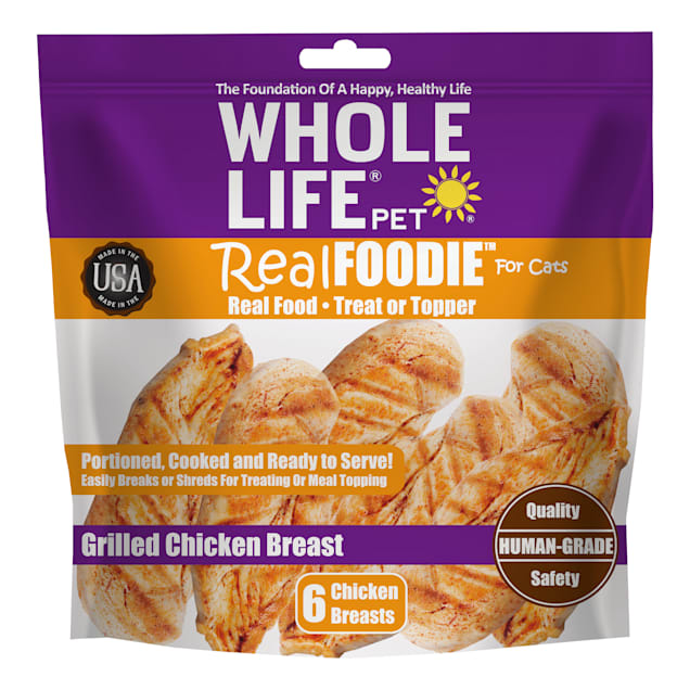 Whole Life Pet Real Foodie Grilled Chicken Breast Cat Treats, 7.2 oz., Count of 6 - Carousel image #1
