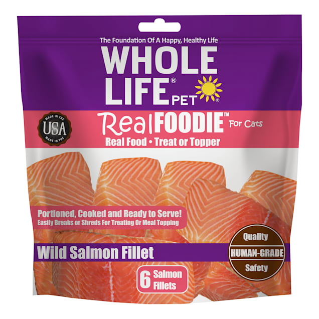 Whole Life Pet Real Foodie Wild Salmon Fillet Cat Treats, Count of 6 - Carousel image #1