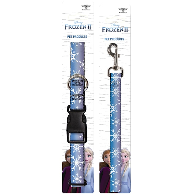 Buckle-Down Frozen Ii Snowflakes Plastic Clip Collar & Leash Set For Dogs, Small - Carousel image #1