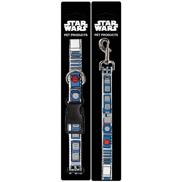 Buckle-Down Star Wars R2-D2 Bounding Parts Plastic Clip Collar & Leash Set For Dogs, Small - Carousel image #1