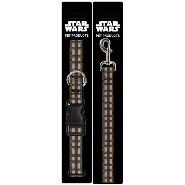 Buckle-Down Star Wars Chewbacca Bandolier Bounding Plastic Clip Collar & Leash Set For Dogs, Small - Carousel image #1