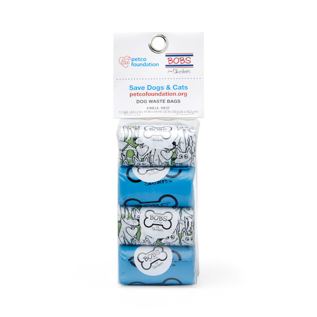 BOBS from Skechers Printed Waste Bag Refill Rolls for Dogs, Count of 120 - Carousel image #1