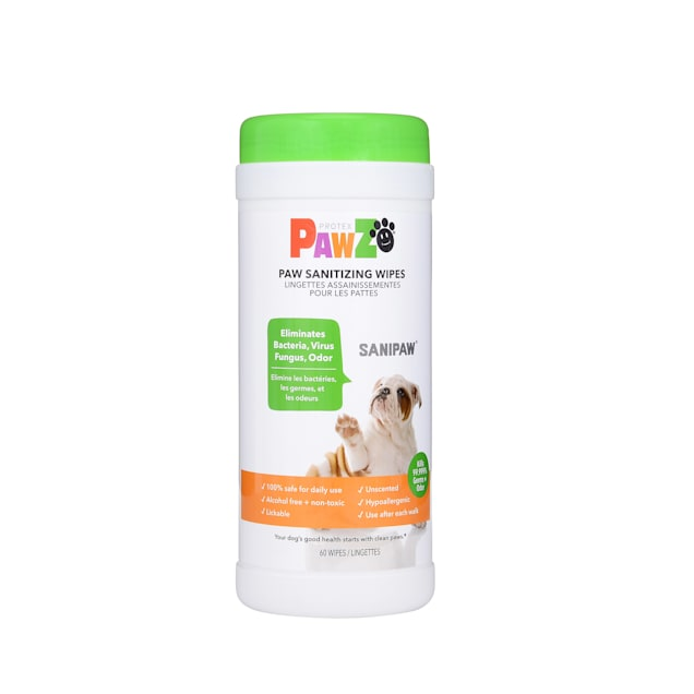 PAWZ SaniPaw Sanitizer Spray Wipes for Dogs, Count of 60 - Carousel image #1