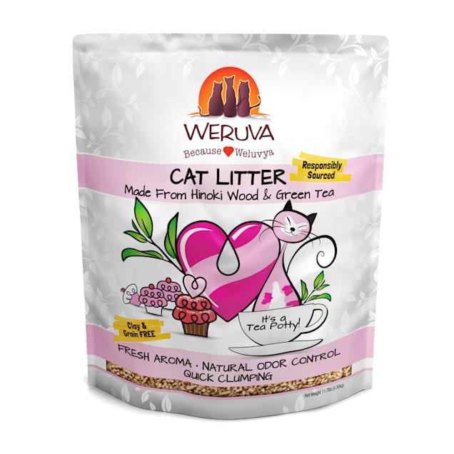 Weruva Tea Potty Hinoki & Green Tea Natural Clumping Cat Litter, 11.7 lbs. - Carousel image #1