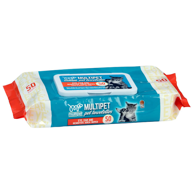 Multipet International Eye, Ear and Sensitive Area Pet Wipes, Count of 50 - Carousel image #1