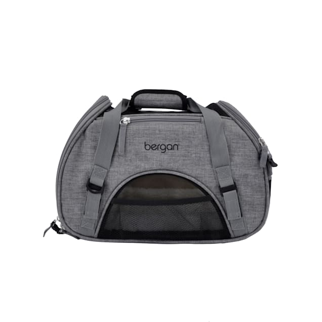 "Bergan Heather Grey Comfort Carrier for Dogs, 16"" L X 8"" W X 11"" H - Carousel image #1"