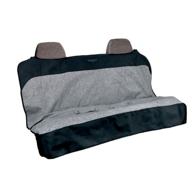 Bergan Auto Bench Grey/Black Extra Wide Seat Protector for Dogs - Carousel image #1
