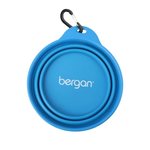 Bergan Sky Blue Collapsible Travel Bowl for Dogs - Carousel image #1