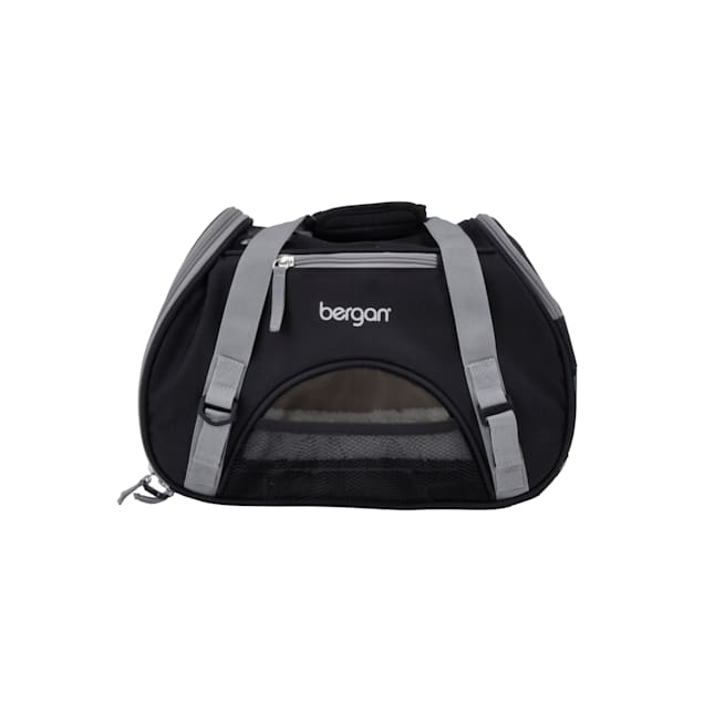 """Bergan Black with Grey Comfort Carrier for Dogs, 16"""" L X 8"""" W X 11"""" H - Carousel image #1"""