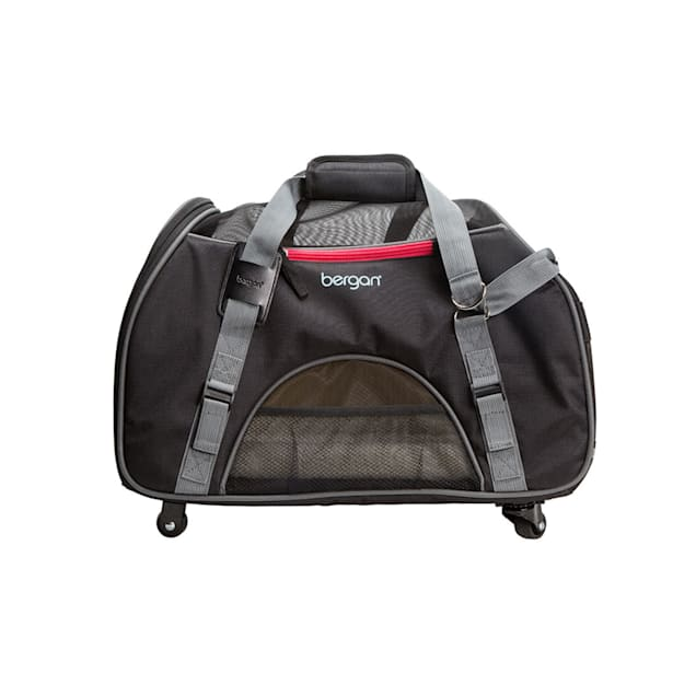 """Bergan Black/Grey Wheeled Comfort Carrier for Dogs, 19"""" L X 10"""" W X 13"""" H - Carousel image #1"""