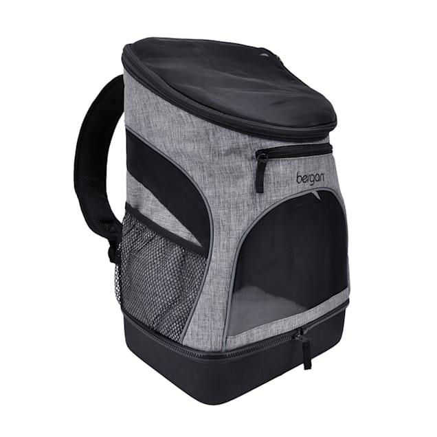 "Bergan Heather Grey Backpack Pet Carrier, 11.5"" L X 9"" W X 17.5"" H - Carousel image #1"