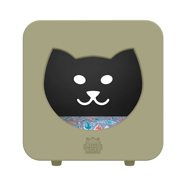 """Kitty Kasas Taupe Bedroom Cat House, 15.5"""" L X 12"""" W X 16.75"""" H - Carousel image #1"""
