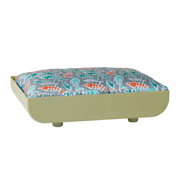 """Kitty Kasas Taupe Penthaus Cat Bed, 15.75"""" L X 12.5"""" W X 4"""" H - Carousel image #1"""