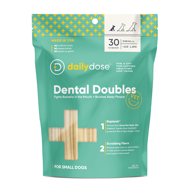 dailydose Dental Doubles Small Dog Chews, 11.9 oz., Count of 30 - Carousel image #1