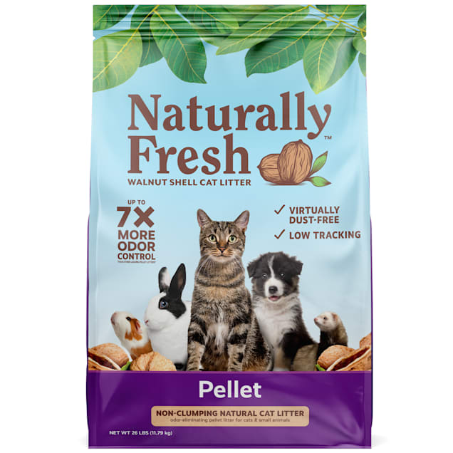 Naturally Fresh Pellet Formula Unscented Non-clumping Cat Litter, 26 lbs. - Carousel image #1