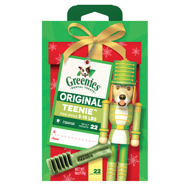 Greenies Original Teenie Nutcracker Natural Holiday Dental Dog Chew, 6 oz. - Carousel image #1