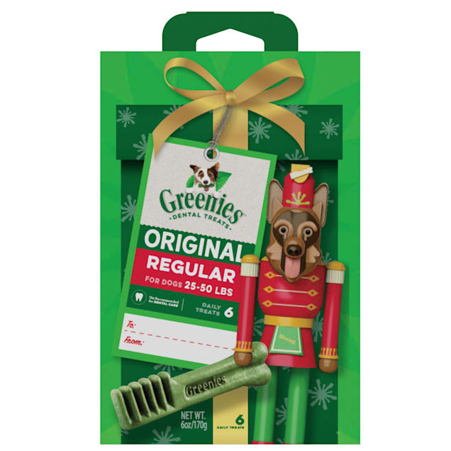 Greenies Original Regular Nutcracker Natural Holiday Dental Dog Chew, 6 oz. - Carousel image #1