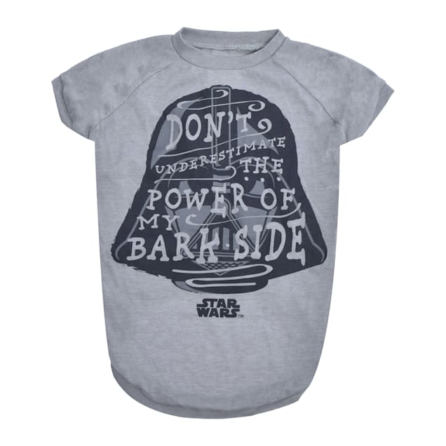 Fetch for Pets Star Wars Gray Don't Underestimate the Power of My Bark Side Dog T-Shirt, Small - Carousel image #1