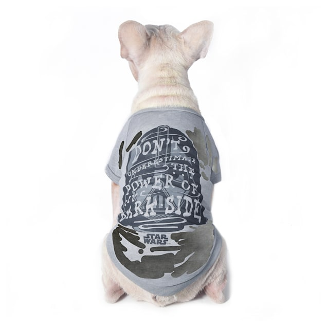 Fetch for Pets Star Wars Gray Don't Underestimate the Power of My Bark Side Dog T-Shirt, X-Large - Carousel image #1