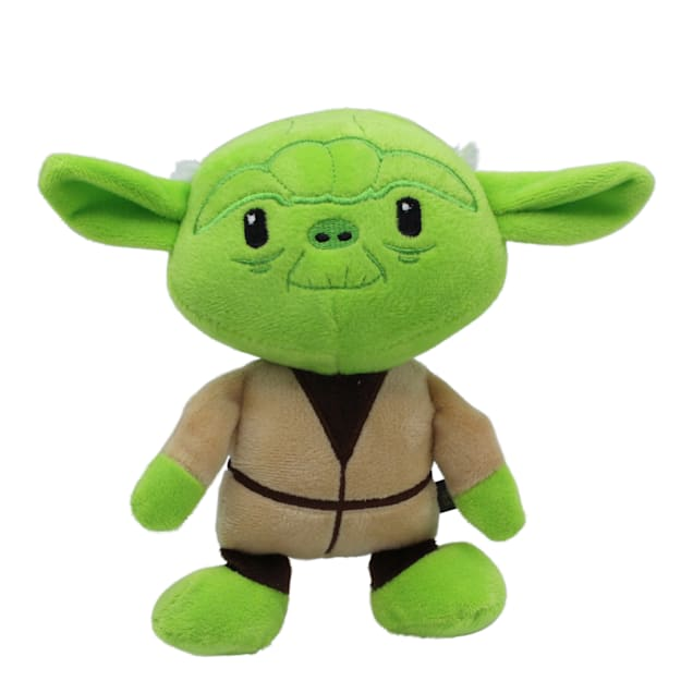 Fetch for Pets Star Wars Yoda Plush Figure Squeaker Dog Toy, Small - Carousel image #1
