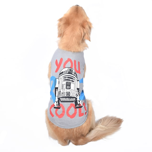 Fetch for Pets Star Wars Gray You R 2 Cool Tank Dog T-Shirt, X-Large - Carousel image #1