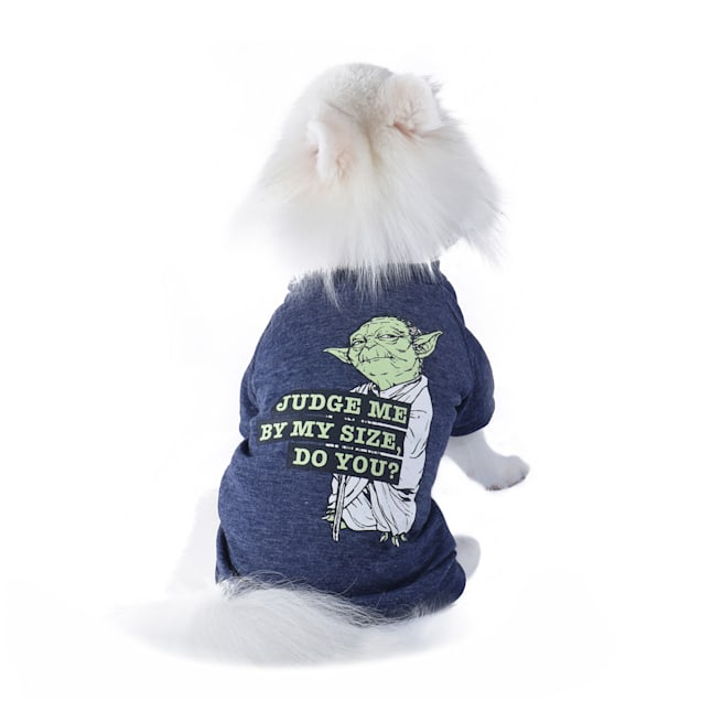 Fetch for Pets Star Wars Blue Judge Me By My Size, Do You? Yoda Dog T-Shirt, X-Small - Carousel image #1